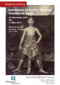 Poste Ausstellung Textilkunst Batik PPI